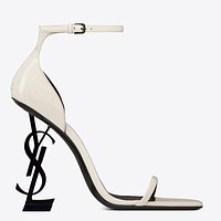 YSL New fashion letter heel high heels women shoes