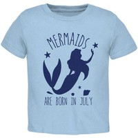 DCCKJY1 Mermaids Are Born In July Toddler T Shirt
