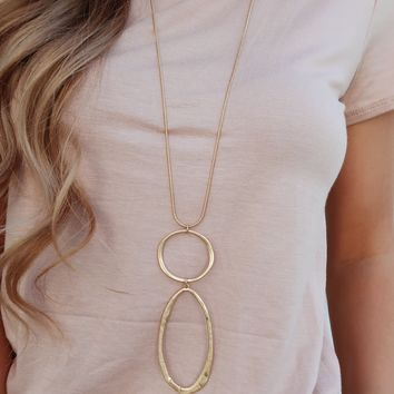 Around We Go Necklace: Gold