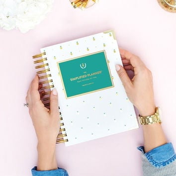 2015-2016 Academic Daily Simplified Planner in Pineapples by Emily Ley
