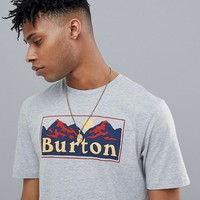 Burton Snowboards Ralleye Box Mountain Logo T-Shirt in Grey Marl at asos.com