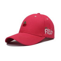 Red Fresh Fruit Embroidered Baseball Cap Hat