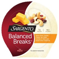 Sargento® Balanced Breaks™ Natural Sharp Cheddar Cheese/Cashews/Dried Cranberries Snacks 3-1.5 oz. Packs - Walmart.com