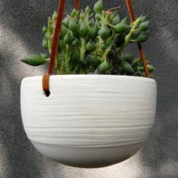 XL Scribble Hanging Planter by PigeonToeCeramics on Etsy