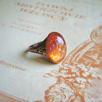 Cocktail Ring Desert Dream vintage mexican fire by lePetitFoyer