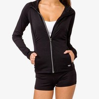 Ruched Athletic Hoodie