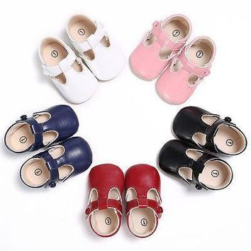 First Walkers Newborn-18M Baby Toddler Girl Leather Soft Sole Crib Shoes Christening P