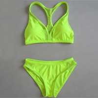 2 Pcs Bikini Tankini Set Women's Swimwear Bathing Suit P105B