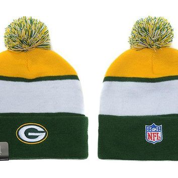 qiyif Green Bay Packers Beanies New Era NFL Football Hat