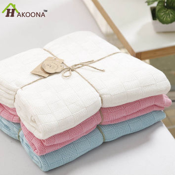 100% cotton  Bamboo  Baby Knitted Blankets Newborn Neonatal  Bed Pink Blue White Queen Size Grade A