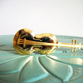 Miniature guitar cello bass musical by VintageMiniatures on Etsy