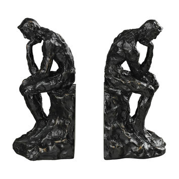 Thinking Man Book Ends
