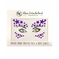 Violent Galaxy Rave Face Jewels (Blue or Purple)