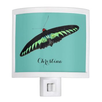 Cute Malaysian National Butterfly Custom Nursery Night Light