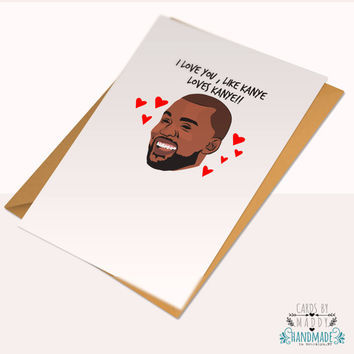 Kanye West Pablo Yeezy Season Yeezus Typography Love Card Stock Birthday Anniversary Card