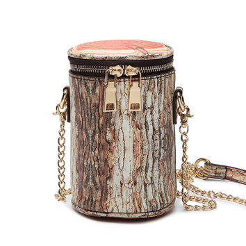 Fashion women's handbag wood mini bucket bag  messenger chain small Crossbody
