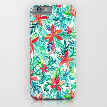 Paradise Floral - a watercolor pattern iPhone & iPod Case by Micklyn