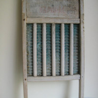 ON SALE Vintage Rustic Worn Washboard by ILikeThemOld on Etsy