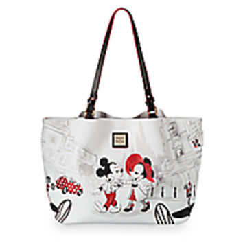 Mickey and Minnie Mouse Cafe Leather Tote by Dooney & Bourke