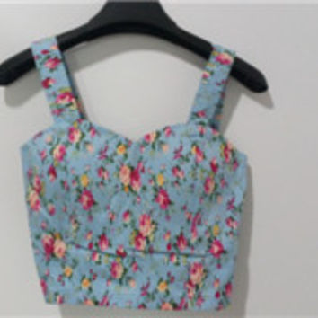 Women's Chest Vest Bustier Short Summer Crop Top