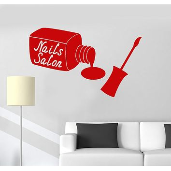 Vinyl Wall Decal Nails Salon Manicure Beauty Woman Girl Stickers Mural Unique Gift (ig3383)