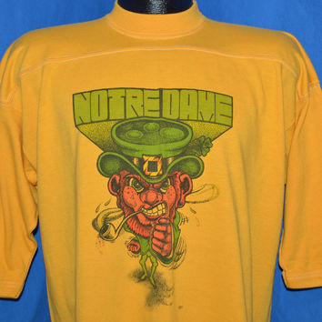 70s Notre Dame Leprechaun Jersey t-shirt Extra Large