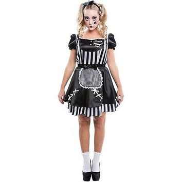 Living Fiction Broken Gothic Doll Adult Womens Halloween Costume Medium 8-10