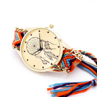Dreamcatcher bracelet watch (3 colors)