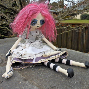 Polymer Clay Doll Eliza The Alchemist by LotusAsylum on Etsy