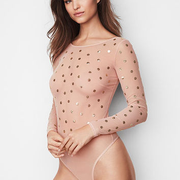 Embellished Mesh Bodysuit - Very Sexy - Victoria's Secret