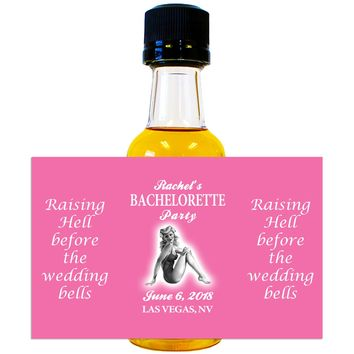 Bachelorette Party Pinup - Wedding Mini Bottle Labels