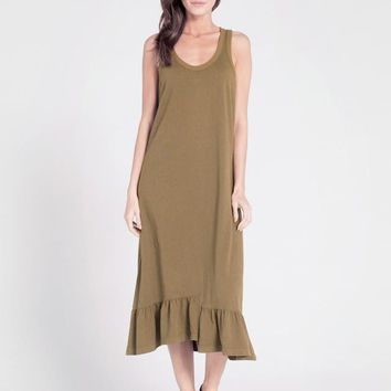 Shifted Tank Dress w/ Flounce Hem