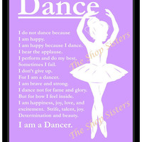 Inspirational Ballerina Dancer Girl Silhouette by TheShopSisters