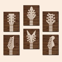 GUITAR Wall Art, Guitar CANVAS or Prints, Music Wall Decor, Guitar Bedroom Art, Guitar Nursery Decor, Guitar Decor, Music Theme, Set of 6