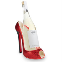 Wine Bottle Holder - Red Sequined