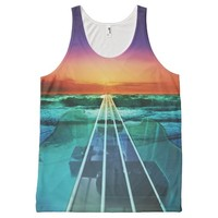 Ocean Sunset Bass Guitar Music Tank Top