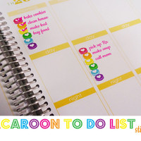 Macaroon To Do List Stickers - Erin Condren Life Planner - erin condren planner stickers - daily planner stickers - plum planner