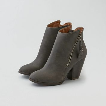AEO Side Zip Heeled Bootie