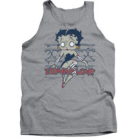 Betty Boop/Zombie Pinup-Adult Tank-Athletic Heather Licensed