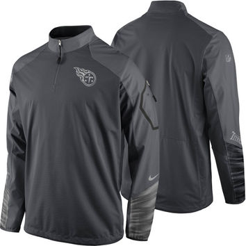 Tennessee Titans Nike Platinum Fly Rush 2.0 Pullover Performance Jacket – Charcoal
