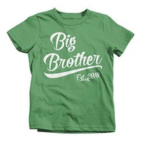Shirts By Sarah Little Boy's Big Brother Est. 2018 Toddler T-Shirt Promoted To