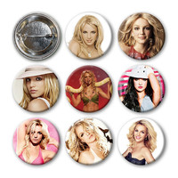 BRITNEY SPEARS - Pinback Buttons (set of 8)