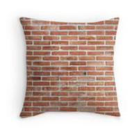 'Brick Wall' Throw Pillow by Maria Meester