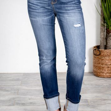 Straight Fit Medium Wash Denim