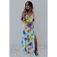 Tropical Getaway Maxi: Ivory/Multi