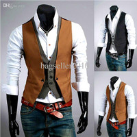 Hot Sale Men's Tops Designed Casual Slim Fit Skinny Clothes Vests Waistcoats M24 salebags