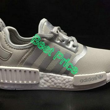 2018 How To Buy Unisex Adidas NMD Boost R1 Matte Silver S76004 fashion shoe