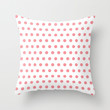 Polka Dots - Coral Throw Pillow by House of Jennifer