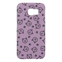Cute Kitty Print Samsung Galaxy S6 Cases