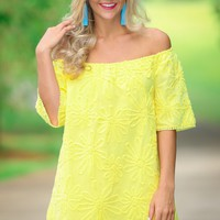 BB Dakota Marnie Off-The-Shoulder Yellow Dress